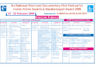 Third National Short and Documentary Film Festival 2009 Screenings locations and timings