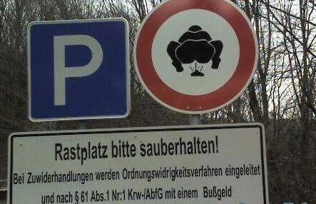 Funny German Sign Poo Picture