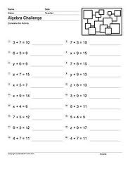 Printables Pre-algebra Worksheets Printable education world all about pre algebra worksheets print your child may be a math whiz but as he or she goes to you need printable stay ahead of the curv