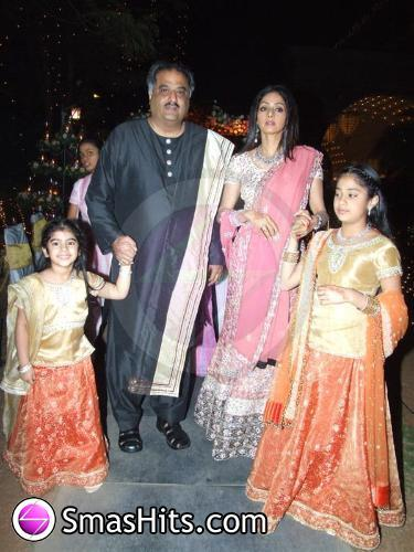 Sridevi And Family Attending Various Functions For Rishi Neetu Kapoor S Eldest Daughter Riddhima Wedding Ceremony Function