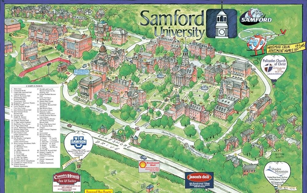 samford university campus map Garrison S Map Revisions Samford University 2008 samford university campus map