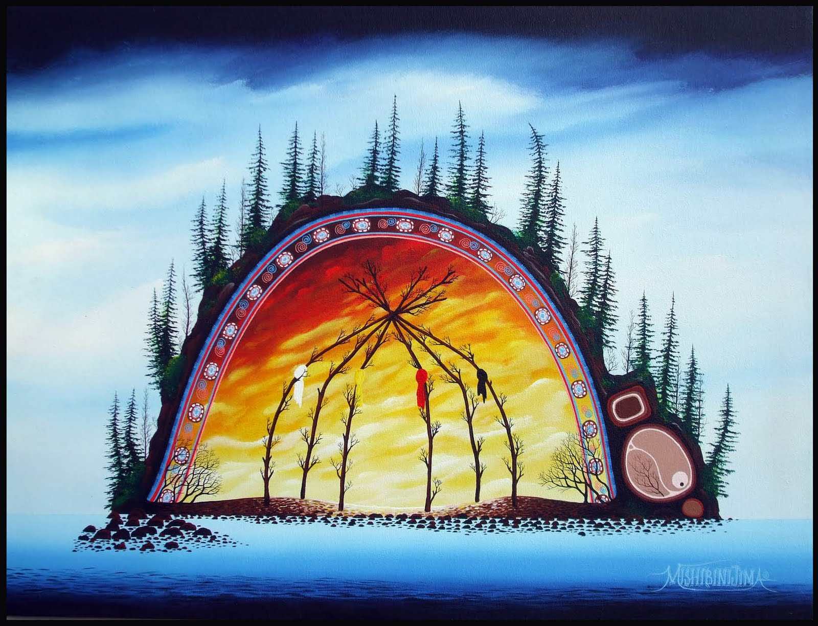 Norval morrisseau blog anishnaabe art meaning and knowledge anishnaabe art meaning and knowledge biocorpaavc Image collections