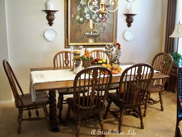 A Stroll Thru Life: My Dining Table Has A Secret - Cottage Dining Room Tables For Your Homes