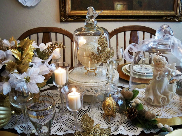using cloches in a tablescape