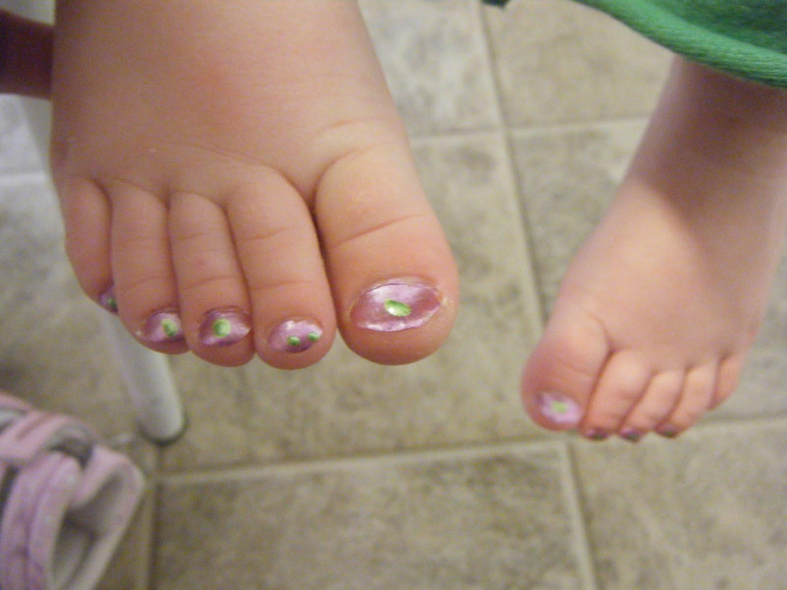 Girls Feet Nail Polish
