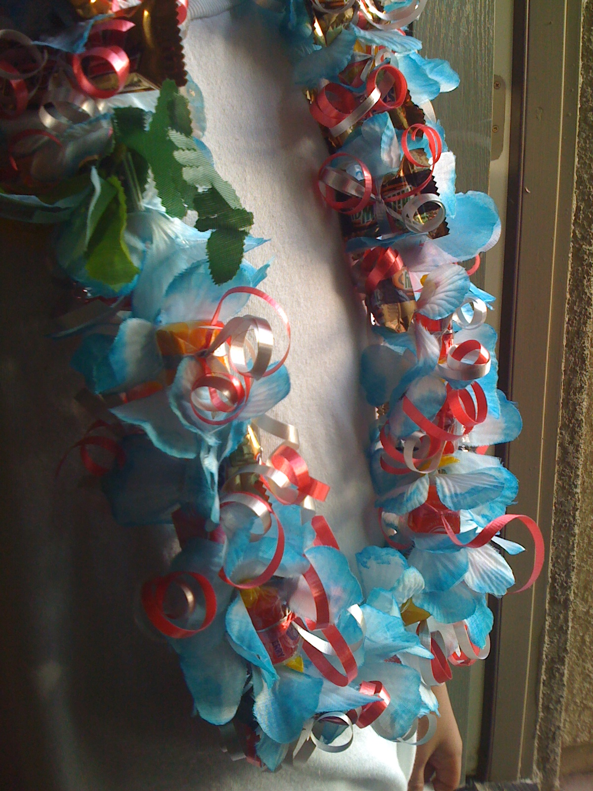 Jaymbitions Blue Flower Leis With Candy