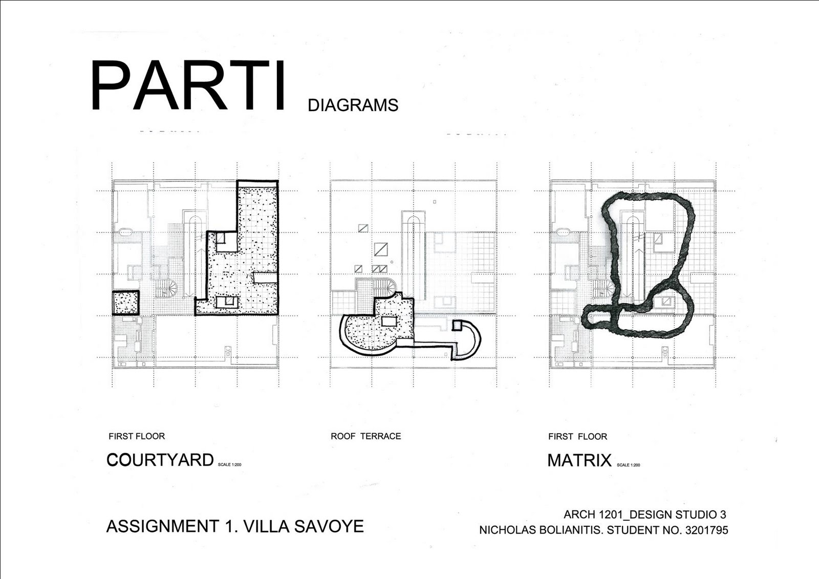 House Floor Plans Com Nicholas Bolianitis Final Drawings Parti And Poche
