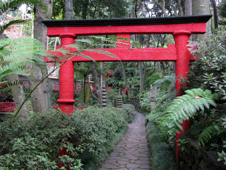 Oriental garden in Monte Palace