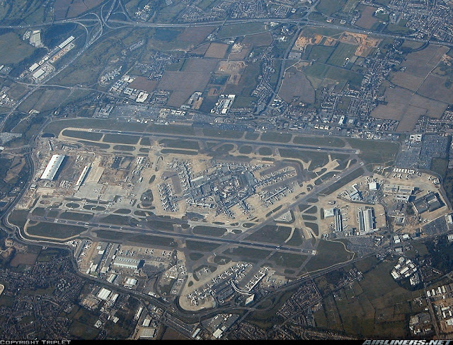 Imagem aérea do Aeroporto de Londres Heathrow