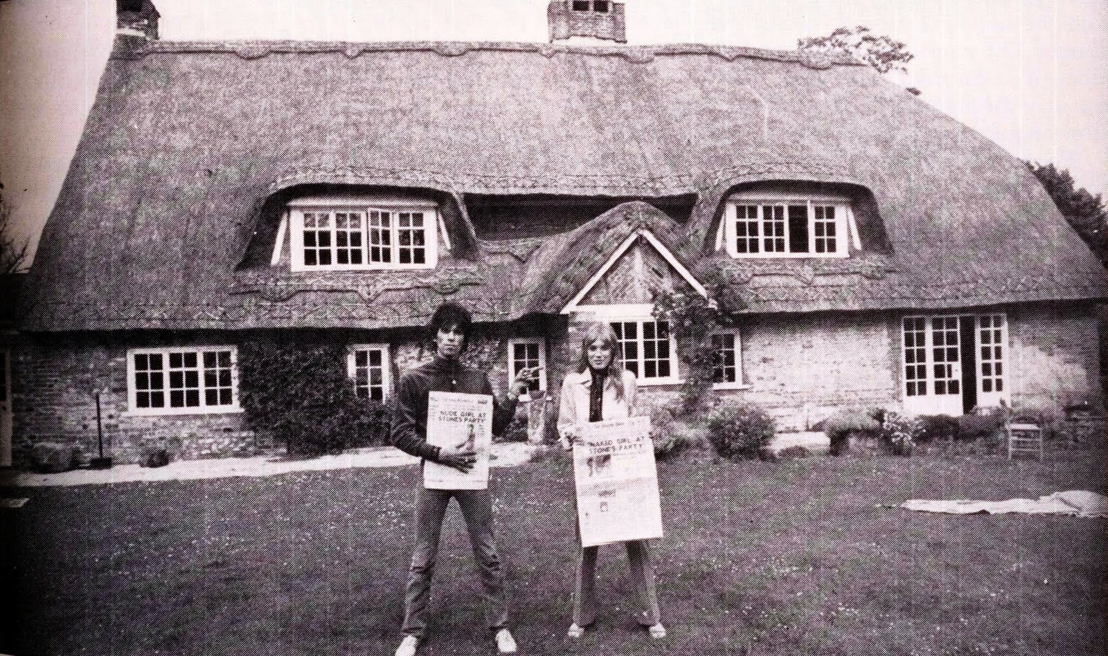 Keith Richards and Anita Pallenberg at Redlands
