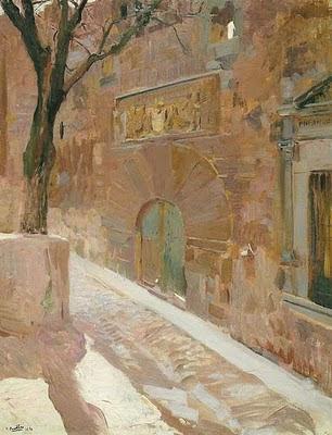 Palacio de los Dávila (Ávila), Joaquín Sorolla y  Bastida, Joaquín Sorolla, Paisajes de Joaquín Sorolla, Impresionismo Valenciano, Joaquín Sorolla Bastida