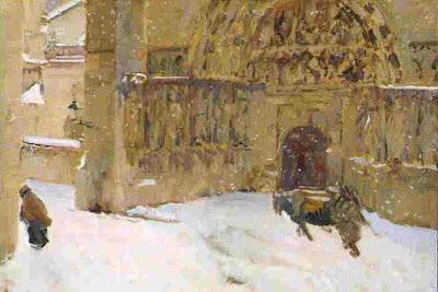 Burgos en invierno, Joaquín Sorolla y Bastida, Joaquín Sorolla, Paisajes de Joaquín Sorolla, Impresionismo Valenciano, Joaquín Sorolla Bastida