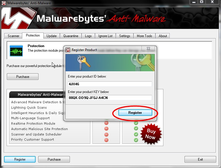 malwarebytes free registration key