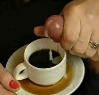 Cum in her coffee