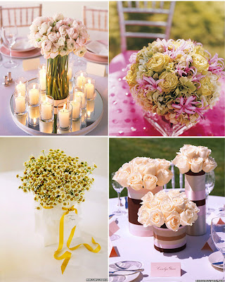 arranjo de mesa no casamento