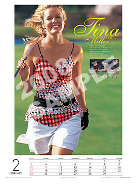 tina miller - golf digest japan world ladies calendar