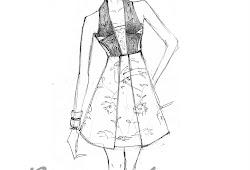 Kumpulan Mewarnai Gambar Desain Sketsa Baju Dress Pendek Desain