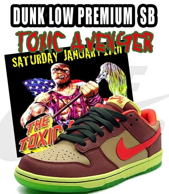 on sale 8920b 85422 ... jd chang nike dunk low premium sb toxic avenger showroom Nike Dunk Low  Premium SB Toxic Sea Robin ...