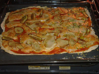 pizza con boletus