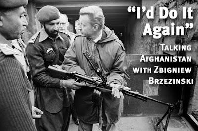 Zbigniew Brzezinski shows Tim Osman, aka Bin Laden