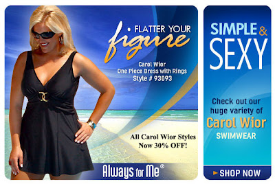 51017e593a 30% off Carol Wior Plus Size swimsuits - at AlwaysForMe.com
