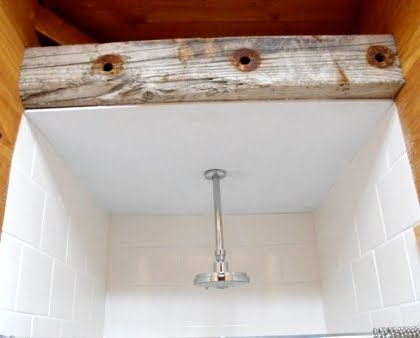 Driftwood Beam Bathroom