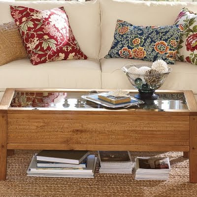 Pottery Barn Coffee Table - Creative Glass Display Coffee Tables - Completely Coastal