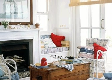 nautical red pillows