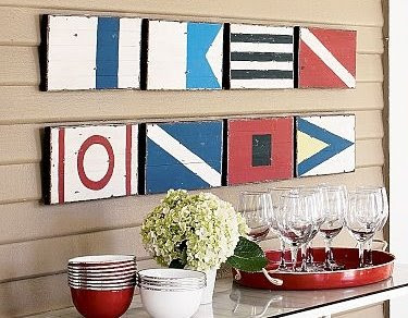 red signal flag decor
