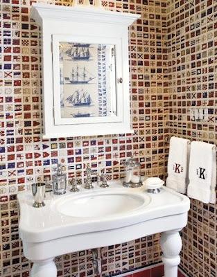 nautical wallpaper decor inspiration