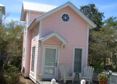small pink home