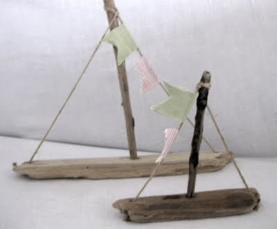 Holz Projekt selbstgemachte Treibholz Boote