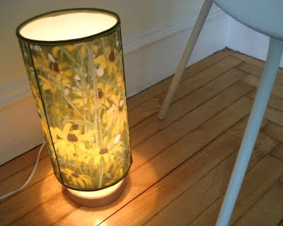 diy lampshade with flower picture