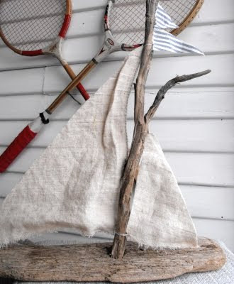 driftwood boat decor