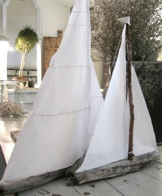 driftwood sailboats by  white flower farmhouse