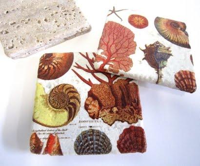 handmade decoupage coasters