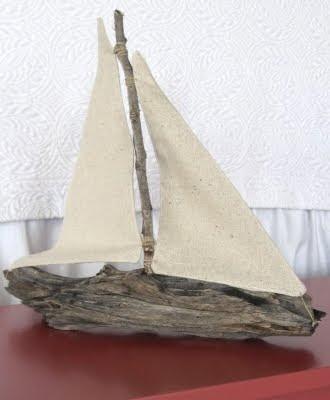 wood craft idea driftwood boat