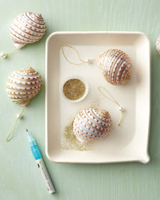 glitter shells with Martha Stewart