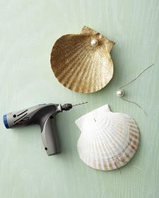 Martha Stewart handmade shell tree topper