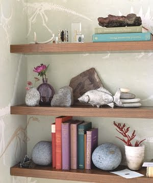 beach rocks as bookends