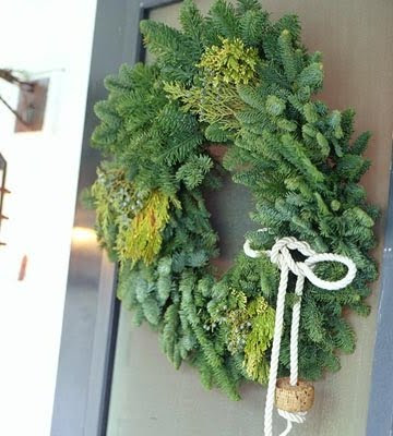 Nautical Christmas Wreath.Coastal Christmas Wreath Ideas Green Simple Coastal