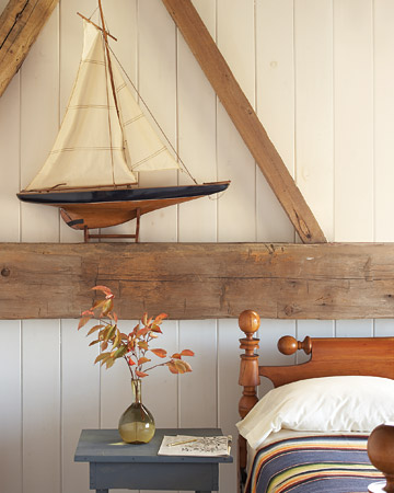 nautical bedroom decor idea model yacht display