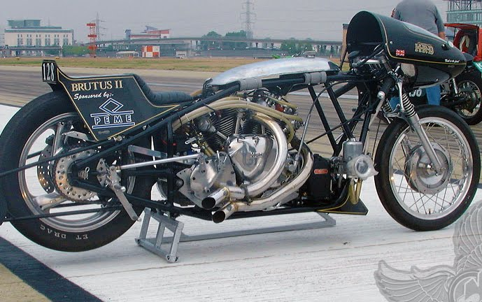Drag Racing Helmets >> metric and vintage british drag bikes - bikerMetric