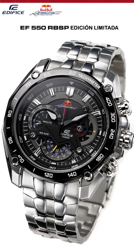 2c3a545930623 El Casio Edifice 550 RBSP cumple con las funciones básicas de un reloj  análogo (cuenta con horario minutero y doble segundero)