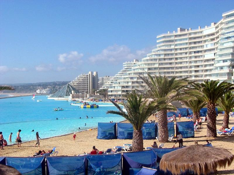 Largest Pool In Chile >> Exotic Places World S Largest Swimming Pool In Chile
