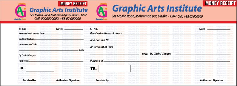 Money Receipt Design billing accounts, paying bill, money, receipt - money receipt design