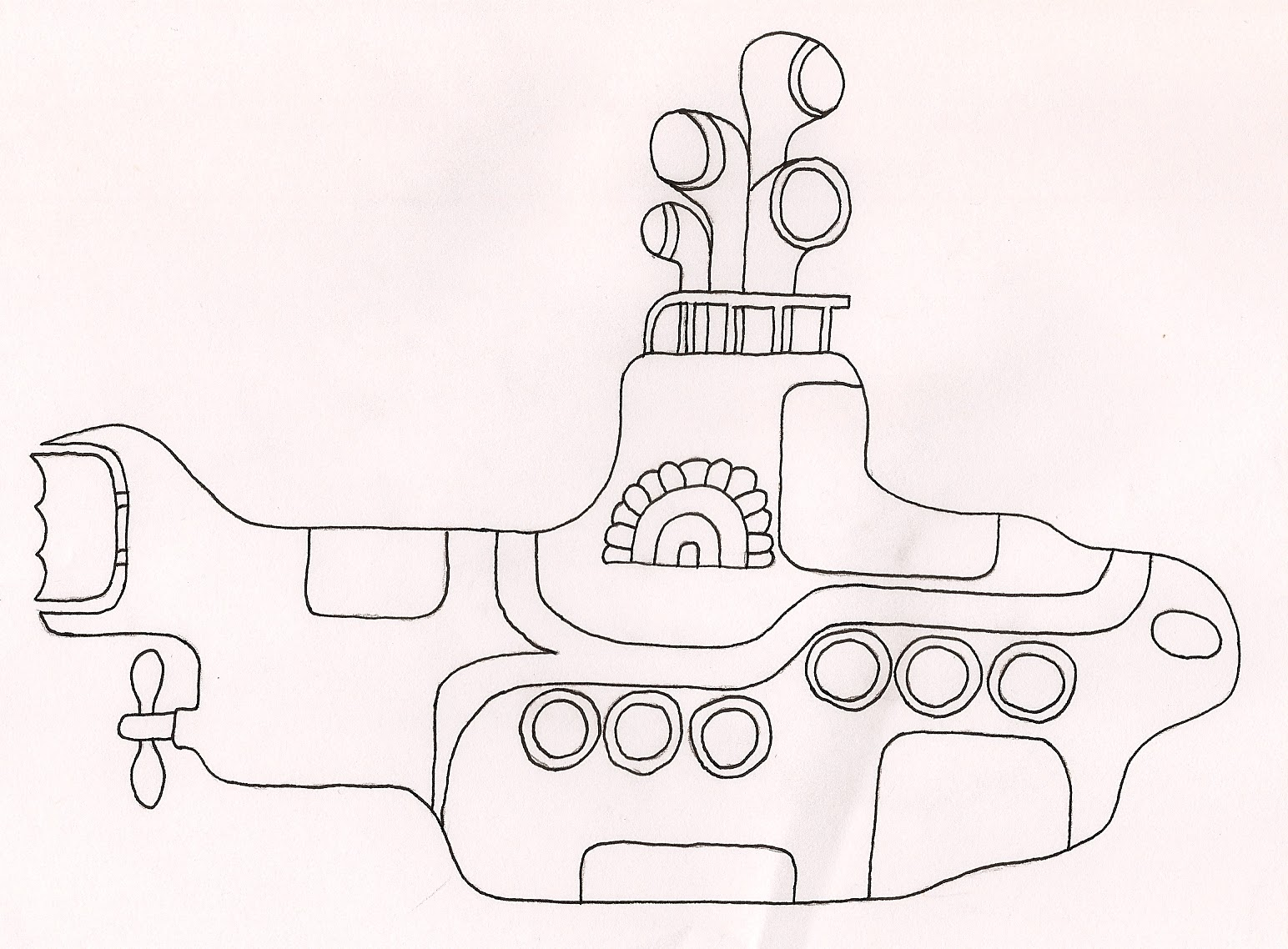 yellow coloring pages - yellow submarine coloring pages coloring pages