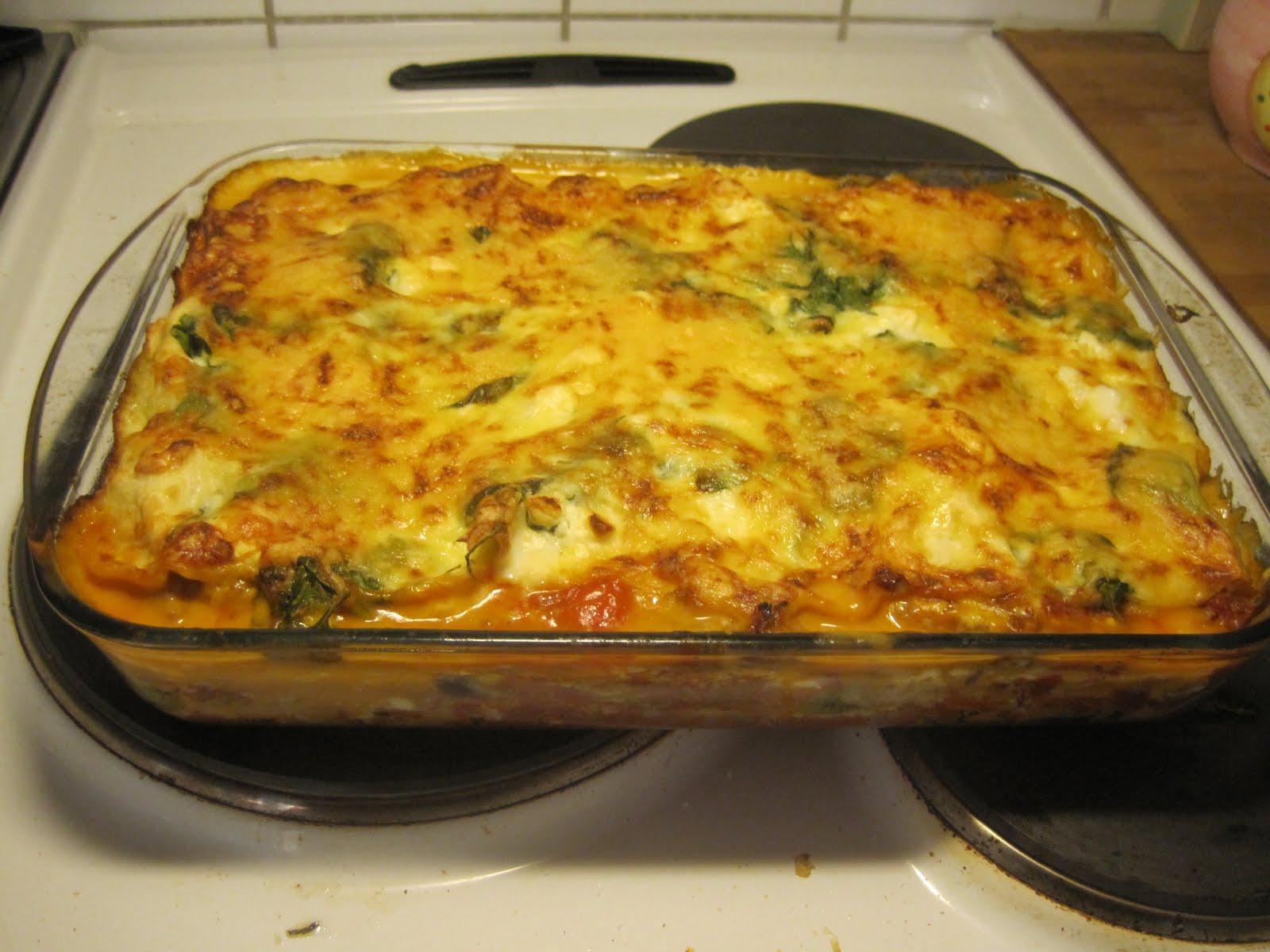 göra lasagne