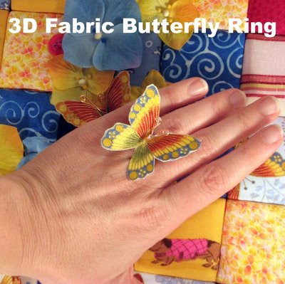 The Matchbook: DEMO! 3D Fabric Butterfly Ring