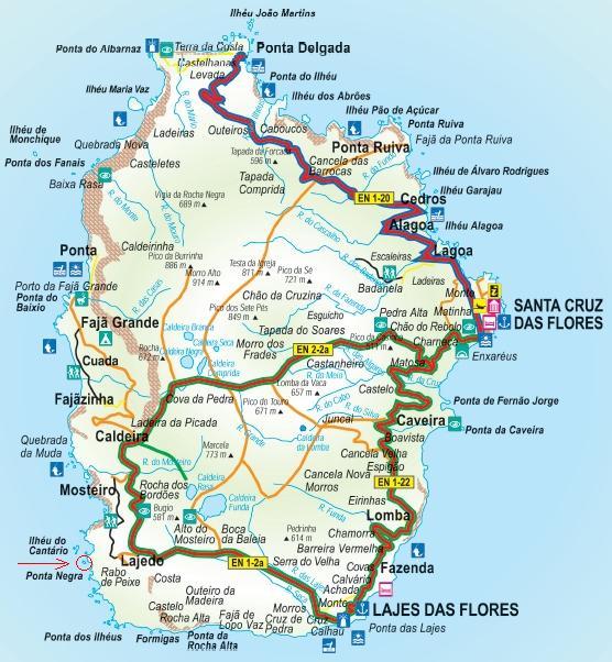 mapa flores açores Azores Cruise Club   Cruzeiros nos Açores: Memórias dos Açores: A  mapa flores açores